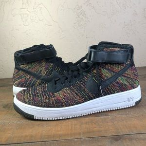 Nike Air Force 1 flyknit mid high top sneakers